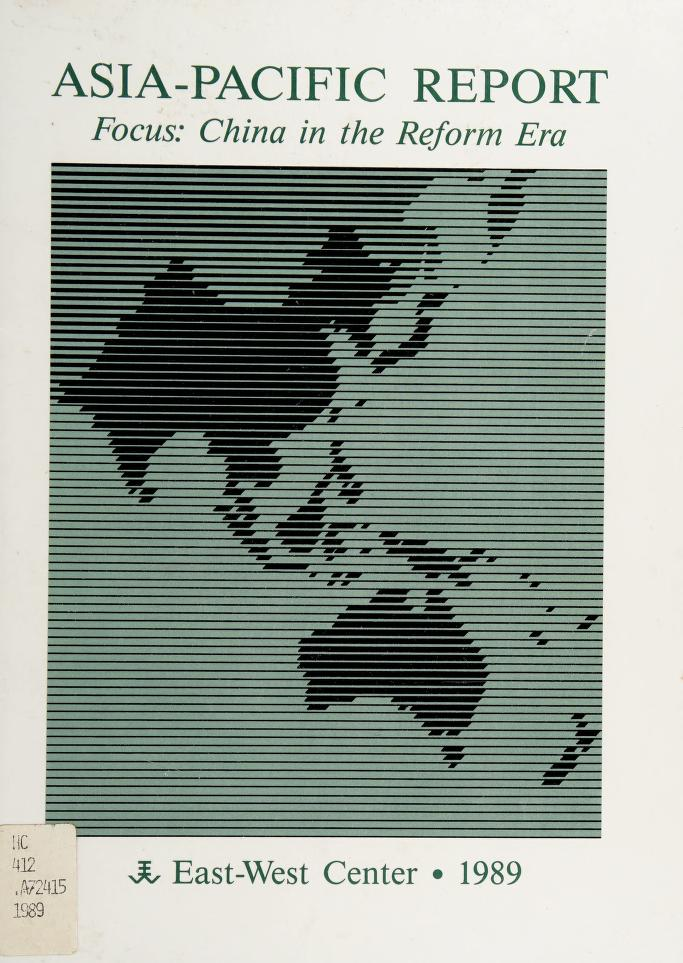 Asia-Pacific report by edited by Charles E. Morrison and Robert F. Dernberger