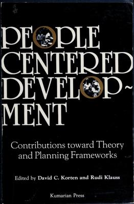 Cover of: People-centered development | edited by David C. Korten and Rudi Klauss.
