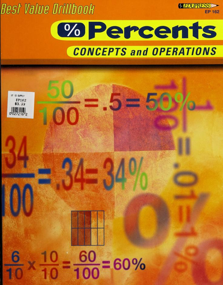 Percents Concepts and Operations (Best Value Drillbook) by