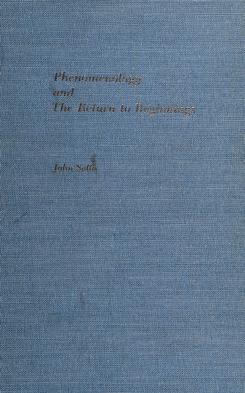 Cover of: Phenomenology and the return to beginnings | John Sallis. --