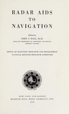 Cover of: Radar aids to navigation | John Scoville Hall