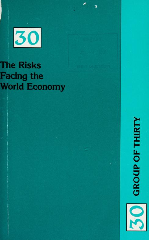 The risks facing the world economy by Group of Thirty